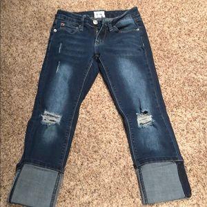 Stylish girls Capri jeans